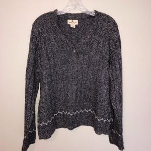 Woolrich Charcoal Gray V-Neck Sweater - Size L